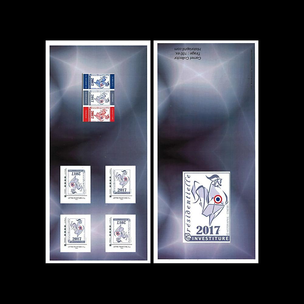 "PRES17-11C : FRANCE Carnet COLLECTOR ""Presidentielle 2017 Investiture - COQ"" GRIS"