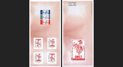"PRES17-12C : FRANCE Carnet COLLECTOR ""Presidentielle 2017 Investiture - COQ"" ROUGE"