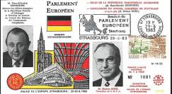 "PE53 FDC PE ""Bilan Présidence allemande CEE / MM. Kohl et Genscher"" 06-1983"