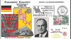 """PE47 FDC PE """"Première visite du Chancelier KOHL / Présidence allemande CEE"""" 02-1983"""