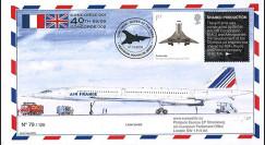 "CO-RET47T1 : 2009 - FDC Royaume-Uni ""40 ans 1er vol Concorde British Airways 001"""