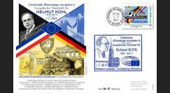 "PE714 FDC PE ""Cérémonie hommage européen à Helmut KOHL / Merkel - Macron"" 1-7-2017"