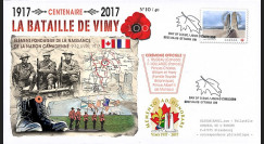 """CENT17-1T1 FDC CANADA """"1917-2017 Centenaire Bataille de la crête de Vimy / Arras"""""""