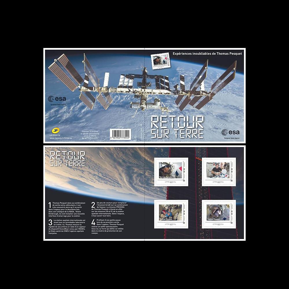 """PROXIMA17-1C FRANCE Collector """"Retour sur Terre - Thomas Pesquet à bord de l'ISS"""" 2017"""