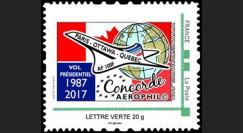 """CO-RET76N France TPP """"1er vol présidentiel Concorde Paris-Ottawa-Québec 1987-2017"""""""
