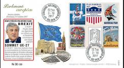 "PE717 FDC PE ""Débats BREXIT et Sommet européen EU27 / TAJANI / Plan Marshall"" 10-2017"