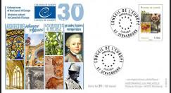 """CE68-PJ : 13-10-2017 FDC 1er Jour Conseil de l'Europe """"30 ans Itinéraires culturels"""""""