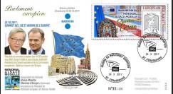 """PE718 FDC PE """"Sommet européen / Mémorial Alsace-Moselle Chemins d'Europe"""" 10-2017"""