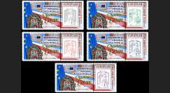 """PE718-PT : 5 Marianne """"Parlement européen / Mémorial Alsace-Moselle Chemins d'Europe"""""""