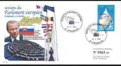 "PE432 FDC Parlement européen ""Visite Rudolf SCHUSTER"