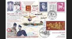 "NIEM17-4 : 2017 Maxi-FDC France-Russie ""Rgt Normandie-Niemen / de Gaulle / Tulasne"""