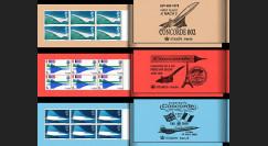 "FE18ca1-3D : Grande-Bretagne série de 3 carnets privés ""1er vol Concorde BA002"" 1969/70"