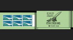 "FE18ca1-4D : Grande-Bretagne carnet privé ""1er vol Concorde BA002 à MACH 2"" 1970"