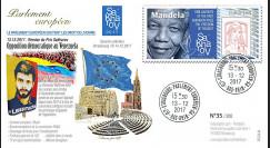 "PE720 : 2017 FDC PE ""Prix Sakharov Opposition démocratique Venezuela / Mandela 1988"""
