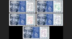 """PE720-PT : 5 Marianne """"PE / Nelson Mandela Lauréat du 1er Prix Sakharov en 1988"""""""