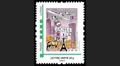 """A380-284N : France TPP Lettre Verte """"Vol inaugural A380 Paris-Doha (Qatar) 5.11.2014"""""""