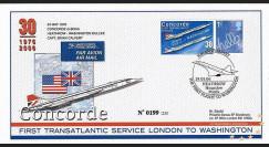 CO-RET31 : 2006 30 ans 1ère desserte Concorde London-Washington GB