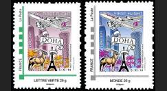 """A380-284-285N : France 2 TP perso """"Vol inaugural A380 Paris-Doha (Qatar) 5.11.2014"""""""