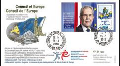 """CE69-IC FDC Conseil de l'Europe """"Alexander VAN DER BELLEN Président Autriche"""" 01-2018"""