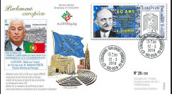 "PE723 : 2018 FDC PE ""60 ans session constitutive / SCHUMAN / Antonio COSTA"