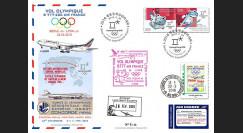"JO2018-1 : 26.2.2018 FFC voyagée ""Vol olympique B777 AIR FRANCE Séoul-Lyon"" TYPE 1"