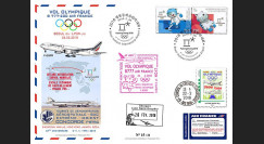 "JO2018-3 : 26.2.2018 FFC voyagée ""Vol olympique B777 AIR FRANCE Séoul-Lyon"" TYPE 3"