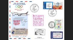"JO2018-4 : 26.2.2018 FFC voyagée ""Vol olympique B777 AIR FRANCE Séoul-Lyon"" TYPE 4"