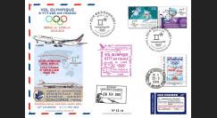 "JO2018-8 : 26.2.2018 FFC voyagée ""Vol olympique B777 AIR FRANCE Séoul-Lyon"" TYPE 8"