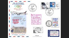 "JO2018-9 : 26.2.2018 FFC voyagée ""Vol olympique B777 AIR FRANCE Séoul-Lyon"" TYPE 9"