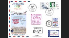 "JO2018-10 : 26.2.2018 FFC voyagée ""Vol olympique B777 AIR FRANCE Séoul-Lyon"" TYPE 10"