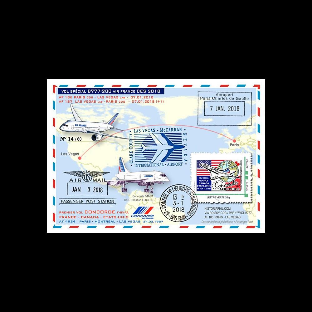 """CO-RET79 : 2018 FFC """"Air France vol CES 2018 B777 & 40 ans vol Concorde Paris-Las Vegas"""""""