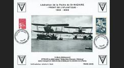 """SN05-E2 : 2005 Feuillet épreuve """"60 ans libération de la Poche de St Nazaire"""" Cordemais"""