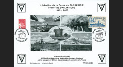 """SN05-E4 : 2005 Feuillet épreuve """"60 ans libération de la Poche de St Nazaire"""" Batz s/ Mer"""