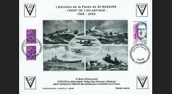 """SN05-E5 : 2005 Feuillet épreuve """"60 ans libération de la Poche de St Nazaire"""" Cordemais"""