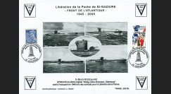 """SN05-E6 : 2005 Feuillet épreuve """"60 ans libération de la Poche de St Nazaire"""" Bouvrons"""