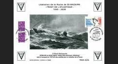 """SN05-E1 : 2005 Feuillet épreuve """"60 ans libération de la Poche de St Nazaire"""" Batz s/ Mer"""