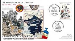 """DEB14-38 : FDC """"11.05.1945-2015 70 ans de la libération de la Poche de Saint-Nazaire"""""""