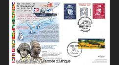 DEB14-34 Maxi-FDC 70 ans Débarquement Provence - revue navale - armée d'Afrique 2014