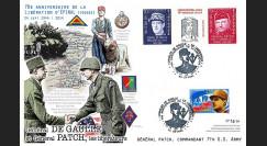 """DEB14-35 Maxi-FDC """"70 ans Débarquement Provence - libération Epinal - Gal Patch"""" 2014"""