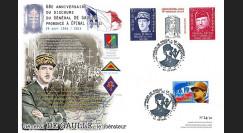 """DEB14-36 : Maxi-FDC """"1946-2014 : 68 ans Discours du Général de Gaulle à Epinal / Patch"""""""