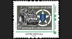 """DEB14-37N : France TPP """"70 ans libération Rennes - 8e Div. Inf. du Général Patton"""" 2014"""