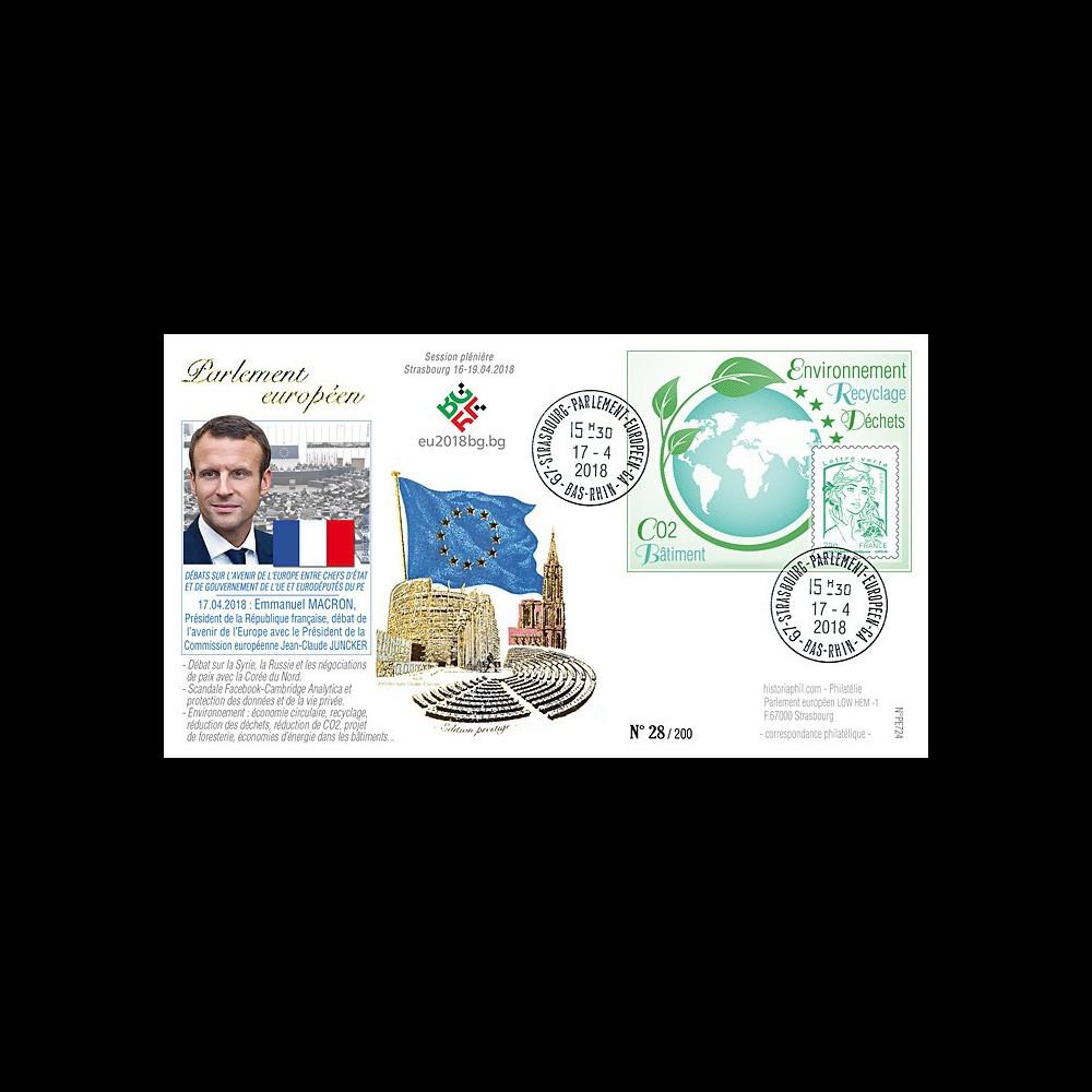 """PE724 : 2018 FDC PE """"Avenir de l'UE avec le Président MACRON (France) / environnement"""""""