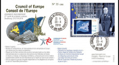 "CE69-II FDC Conseil de l'Europe ""1948-2018 Congrès européen La Haye / discours Churchill"""