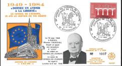 """CHURCH84-CE : FDC Conseil de l'Europe """"Journée de l'Europe / 35 ans discours Churchill"""""""