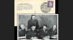 """FRANCE Carte """"Signature acte de reddition Allemagne 1945 - délégation Armée Rouge"""""""