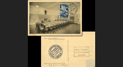 """FRANCE Carte """"Cérémonie Remise de la salle de la REDDITION à la ville de Reims 7-5-1945"""""""