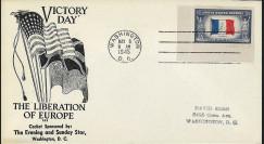 "W2US74-02 Pli patriotique USA ""VE-DAY in Europe - Capitulation de l'Allemagne 8 mai 1945"""