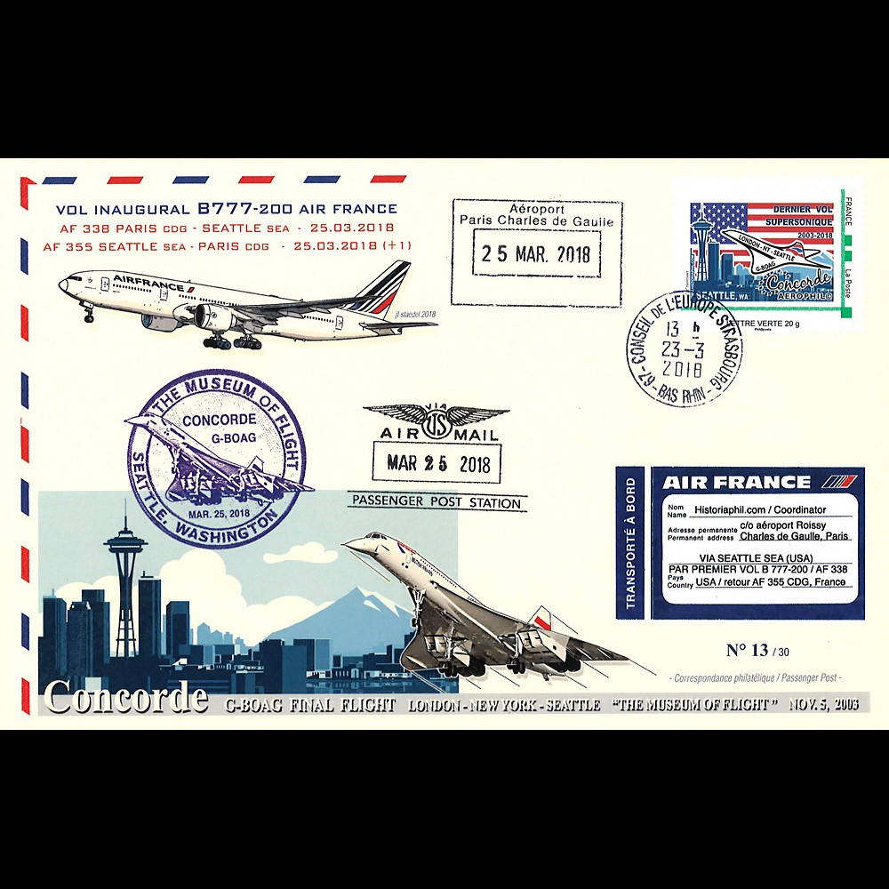 "CO-RET81 : 2018 FFC ""15 ans dernier vol Concorde British Airways G-BOAG Seattle (USA)"""