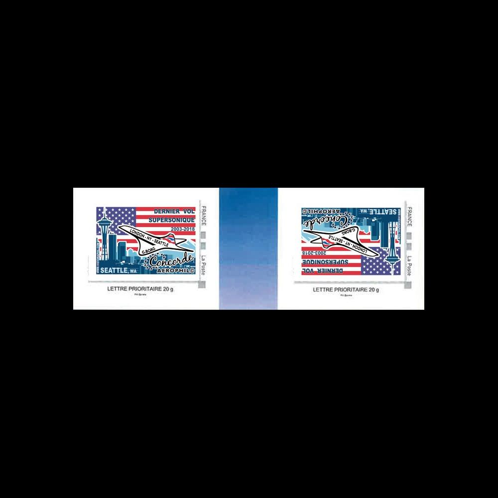 """CO-RET81VN : FRANCE TPP Variété """"2003-2018 dernier vol Concorde G-BOAG vers Seattle"""""""