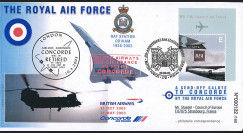 "CO03-RAF2 : 2003 Pli Grande-Bretagne ""67 ans RAF Station Odiham - retrait de Concorde"""